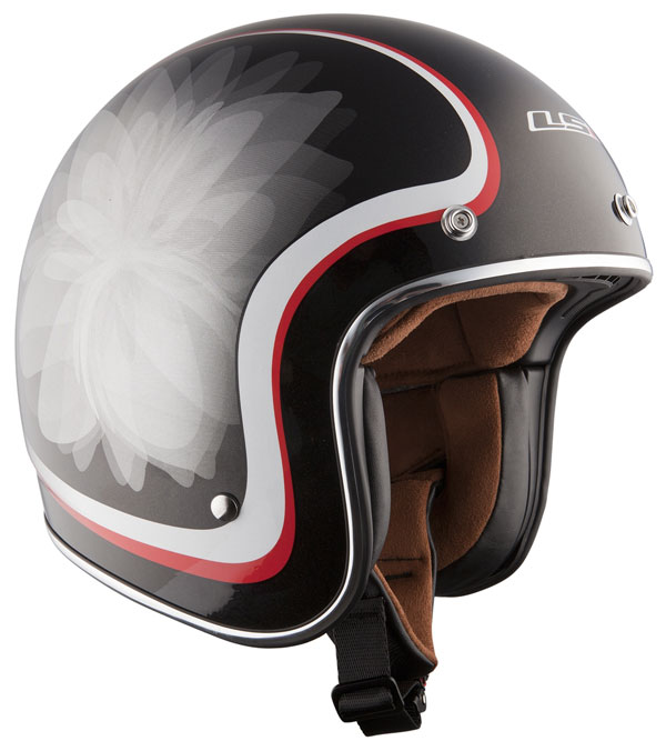 Helmet LS2 OF583 Fiber Glow black white