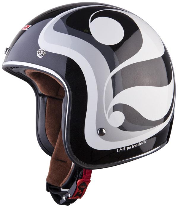 Helmet LS2 OF583 fiber Psicodelic black