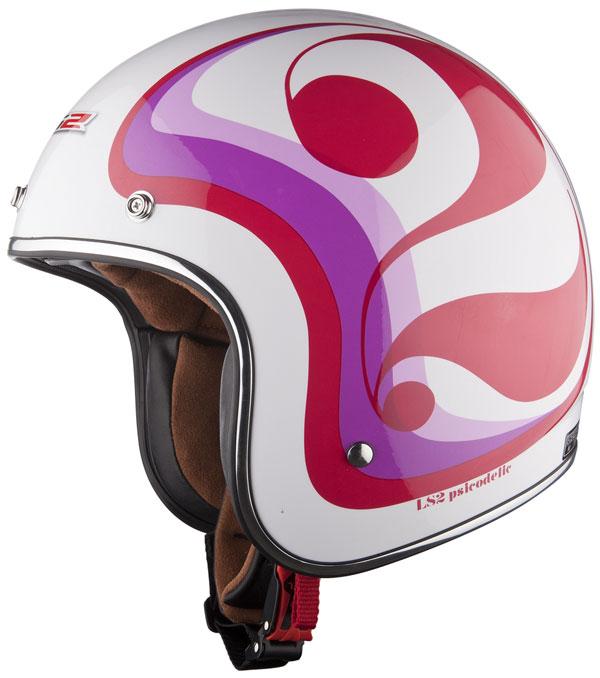 Helmet LS2 OF583 fiber Psicodelic white