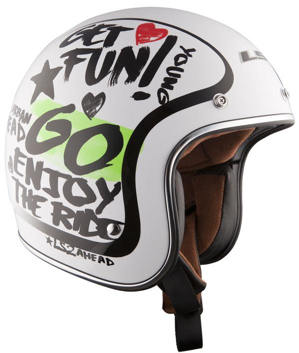 Helmet LS2 OF583 fiber Enjoy white