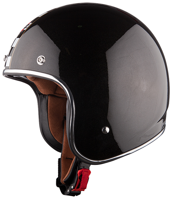 Jet helmet LS2 OF583 Flagman Black White