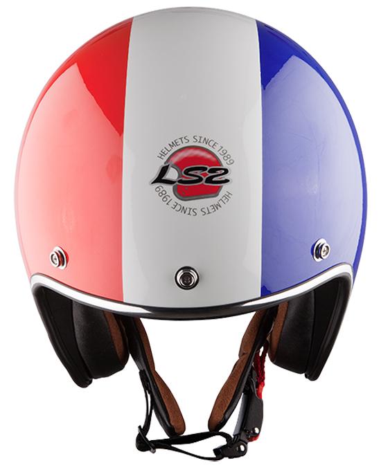Jet helmet LS2 OF583 Froggy Red White Blue