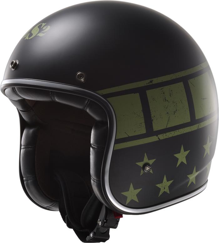 LS2 OF583 Bobber Kurt jet helmet matte Black