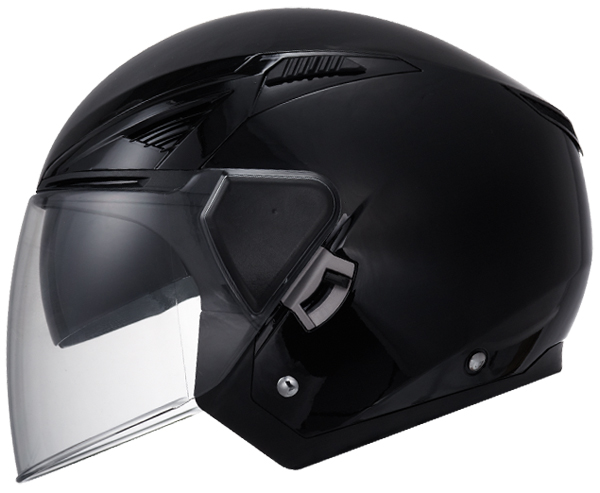 Casco jet LS2 OF586 Bishop Nero opaco