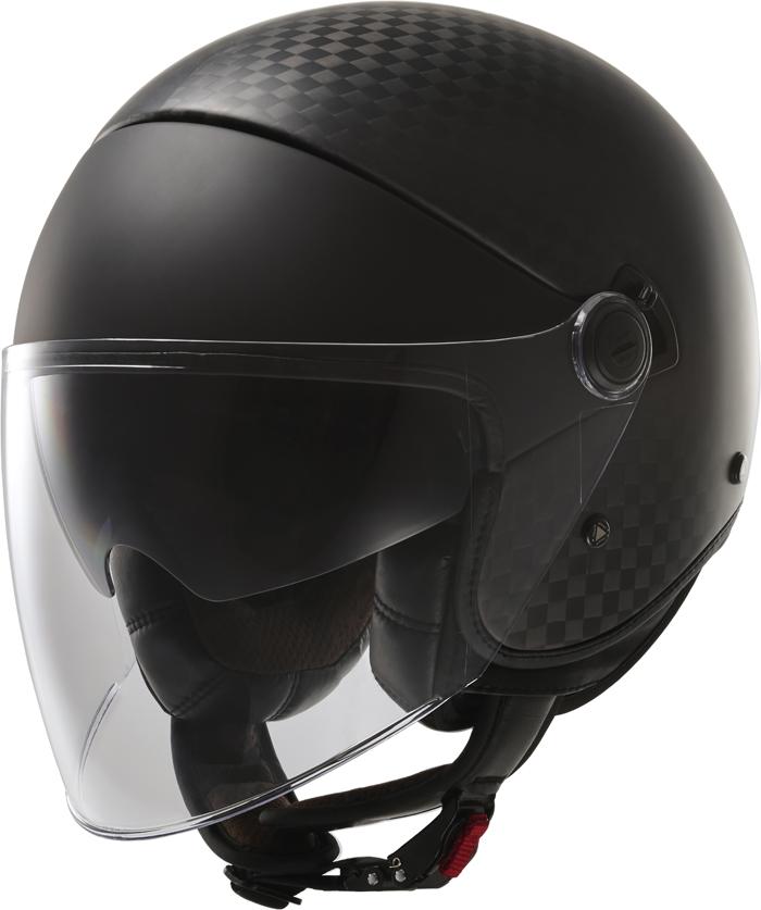LS2 OF597 Cabrio jet helmet matte Carbon