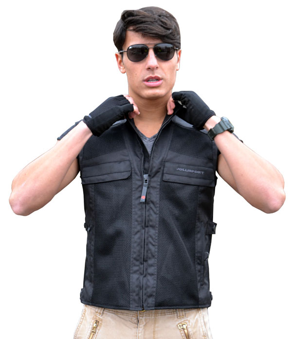 Vest black perforated Jollisport Hollywood