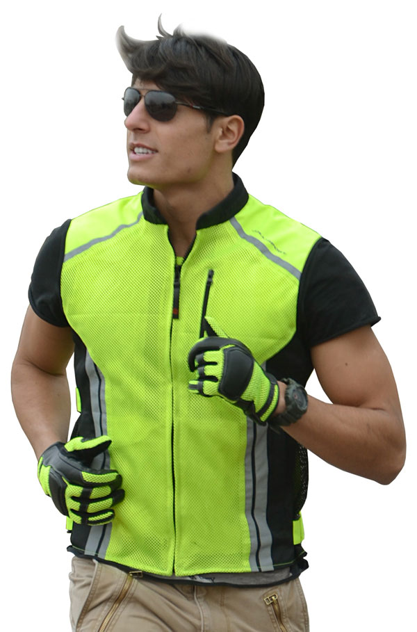 High visibility vest perforated Jollisport Look fluorescent yell