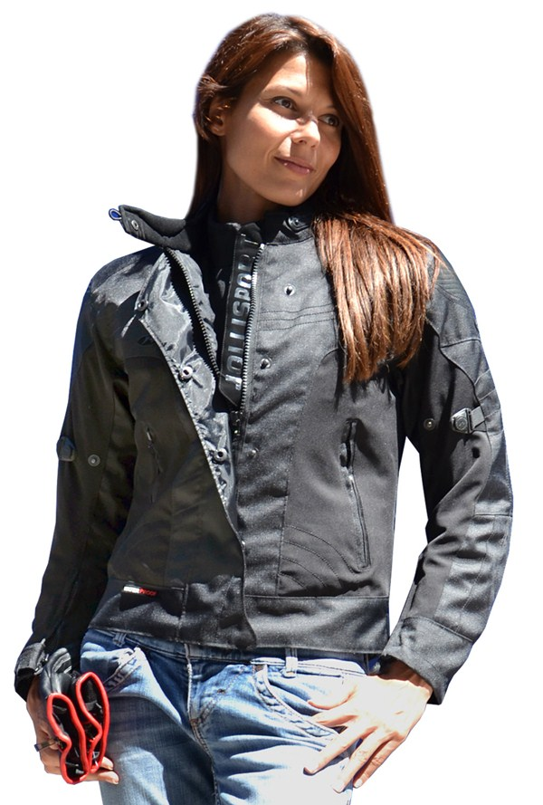 Motorcycle jacket woman Jollisport Oana Black