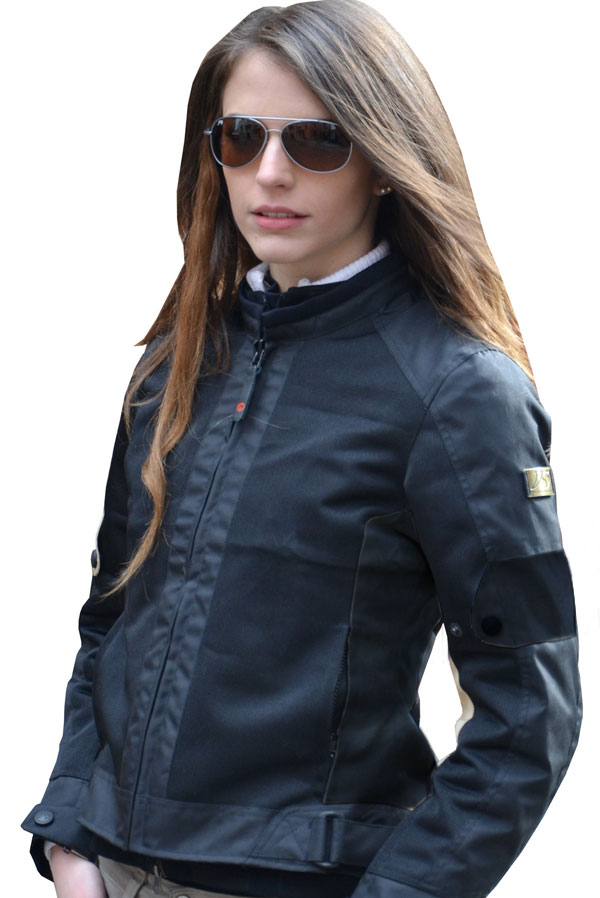 Summer motorcycle jacket black woman Jollisport Margaret