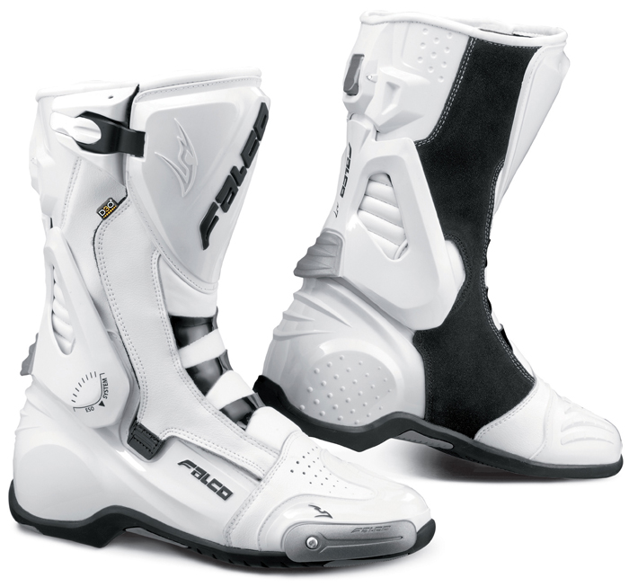Motorcycle Boots Falco Eso Pro 2 with D3O shoe White