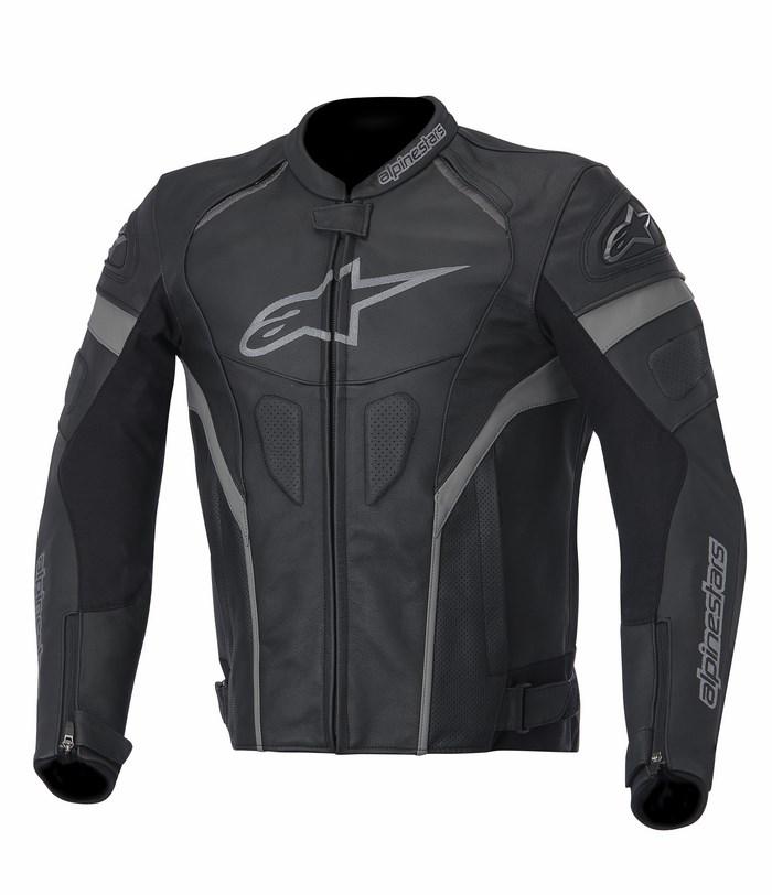Giacca moto pelle Alpinestars GP Plus R nero antracite