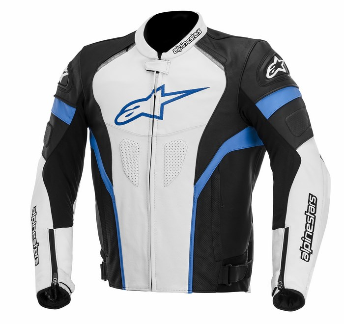 Alpinestars GP Plus R leather jacket black white blue