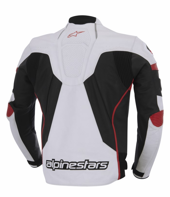 Alpinestars GP Plus R leather jacket white black red