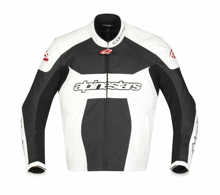 Giacca moto pelle Alpinestars GP Plus Bianco Nero