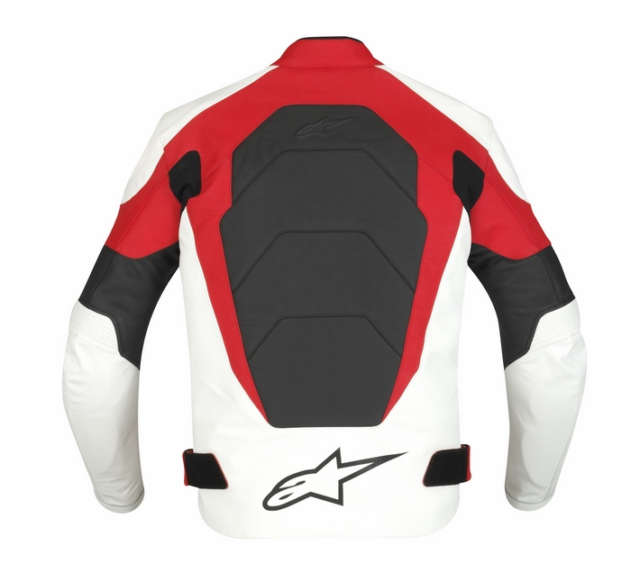 Alpinestars GP Plus Leather Motorcycle Jacket White Red Black