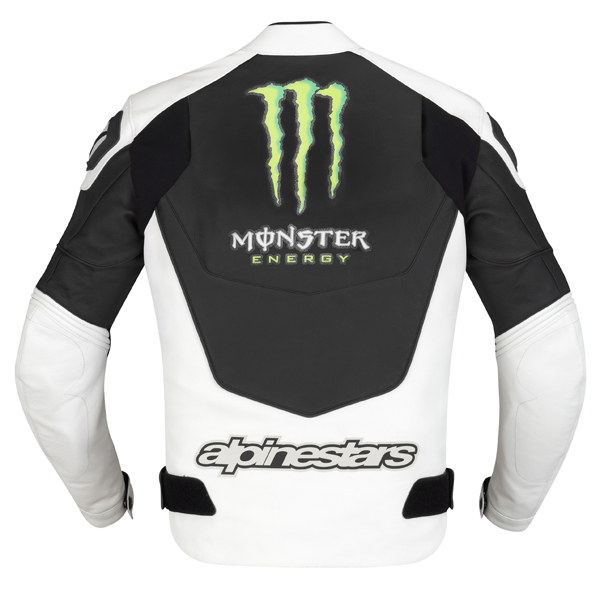 Giacca moto pelle Alpinestars GP-M Monster nero bianco-verde