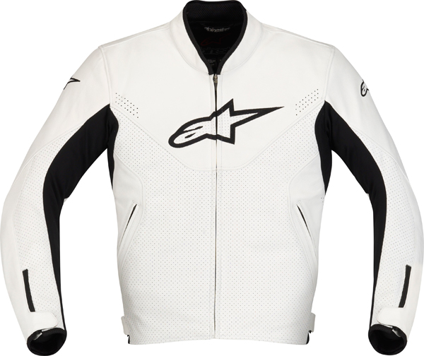 Alpinestars Indy leather motorcycle jacket white