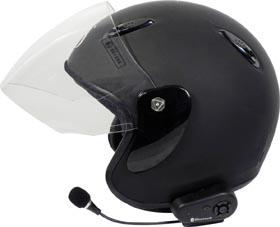 Kit interfono Bluetooth per un casco con attacco casco esterno