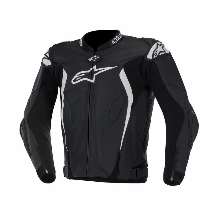 Alpinestars GP TECH leather jacket black white