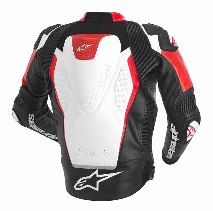 Giacca moto pelle Alpinestars GP TECH bianco nero rosso