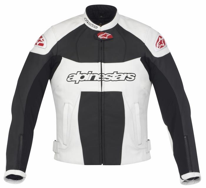 Giacca moto pelle donna Alpinestars Stella GP Plus Nero Bianco