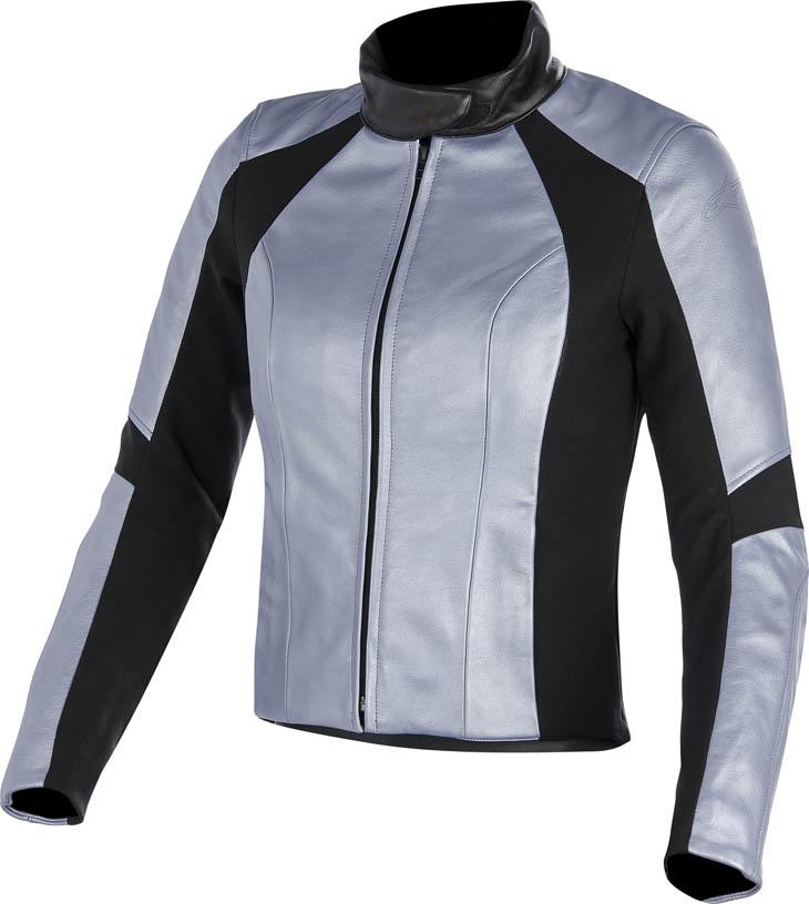 Giacca moto donna pelle Alpinestars Stella Vika Blu metallizzato