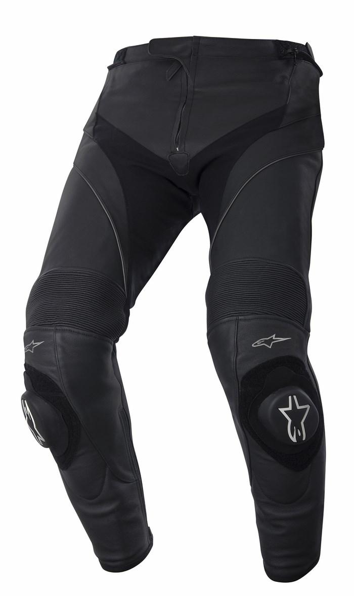 Pantaloni moto pelle Alpinestars Missile neri allungati