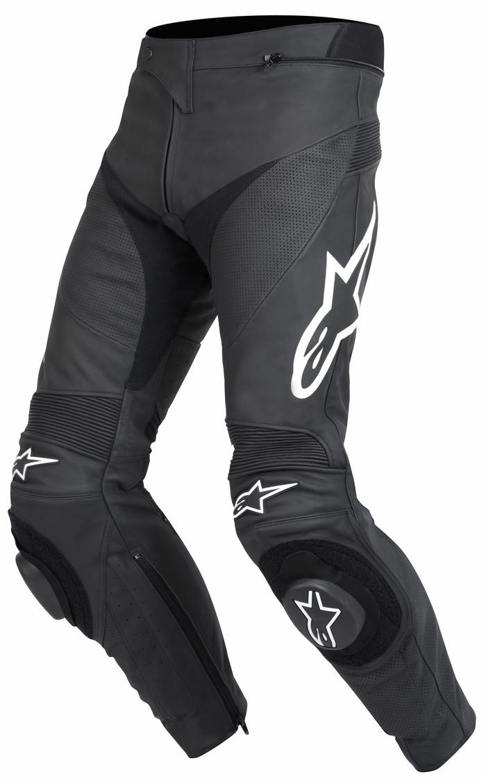 Pantaloni moto pelle Alpinestars Track Nero