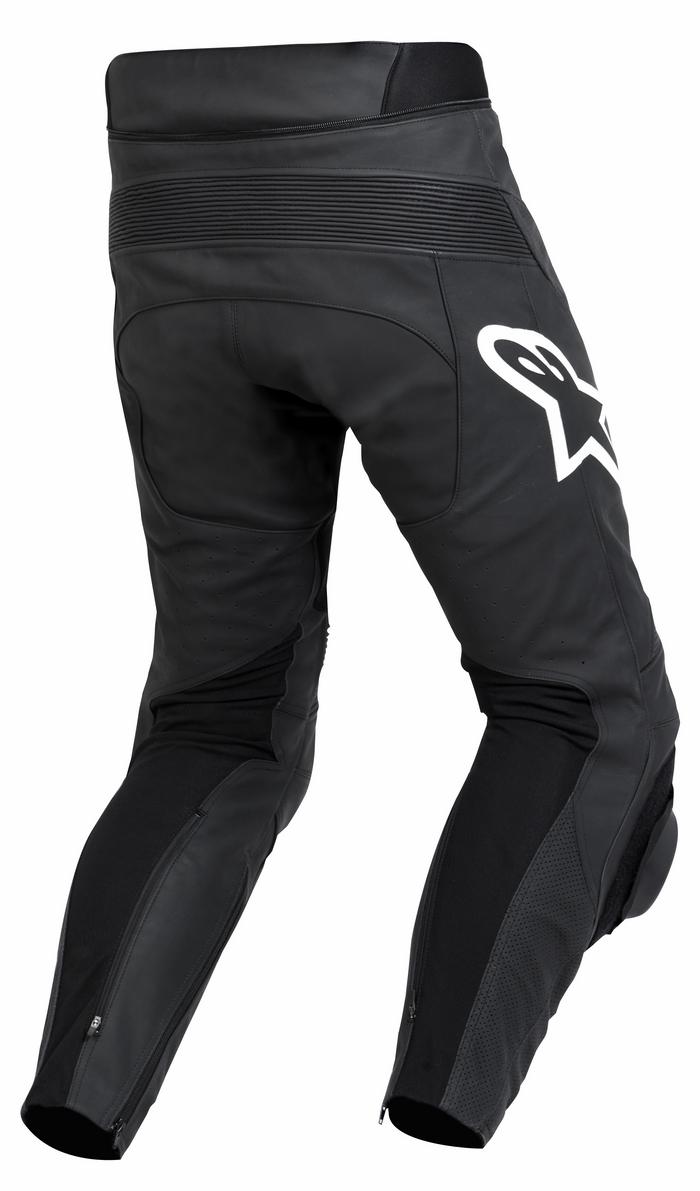 Black leather motorcycle pants Alpinestars Track