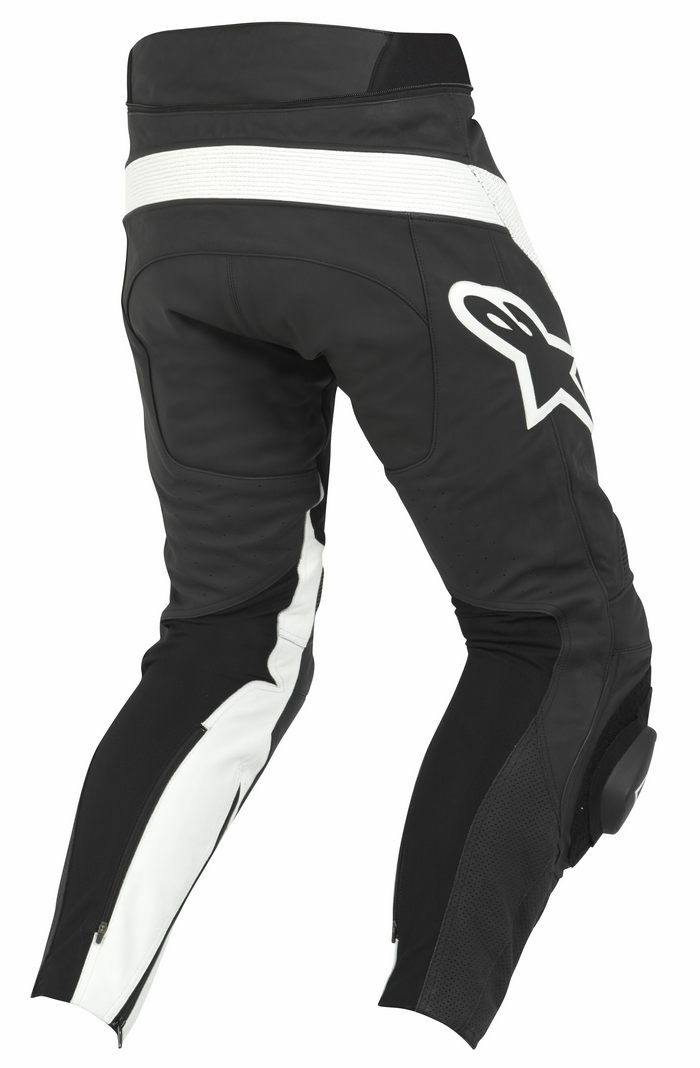 Motorcycle leather Alpinestars Track Pants Black White