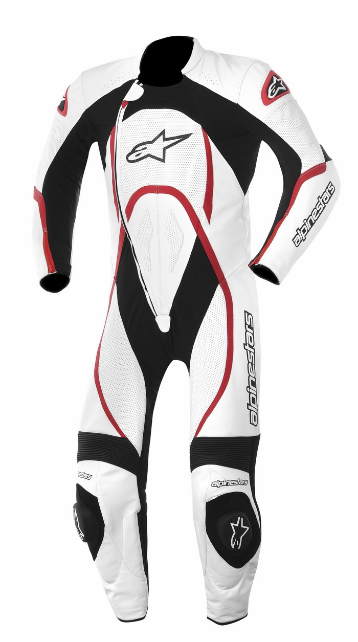 Alpinestars Orbiter one piece leather suit white red