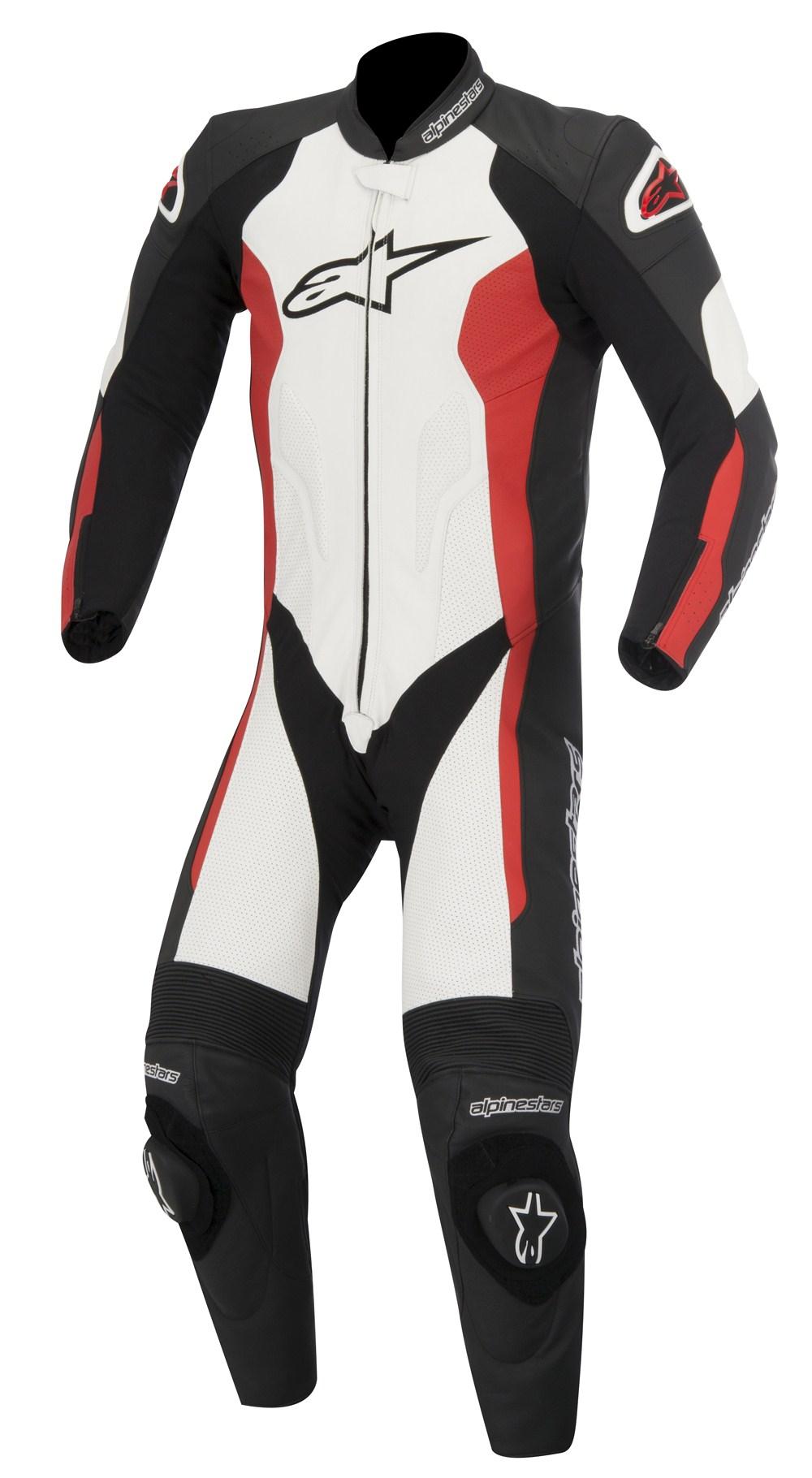 Tuta moto pelle estiva Alpinestars Challenger Nero Bianco Rosso