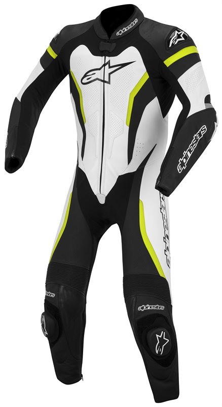Alpinestars GP Pro leather motorcycle suit Black White Fluo Yell