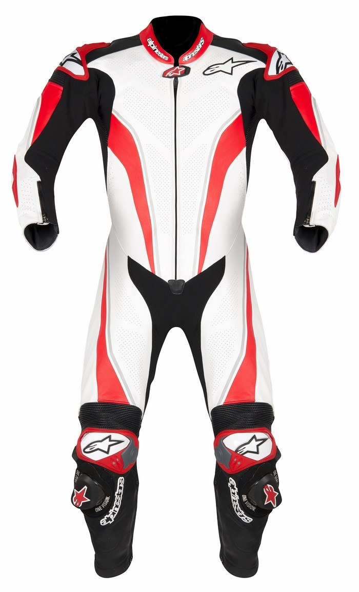 Alpinestars Racing Replica leather biker suit Black Red White