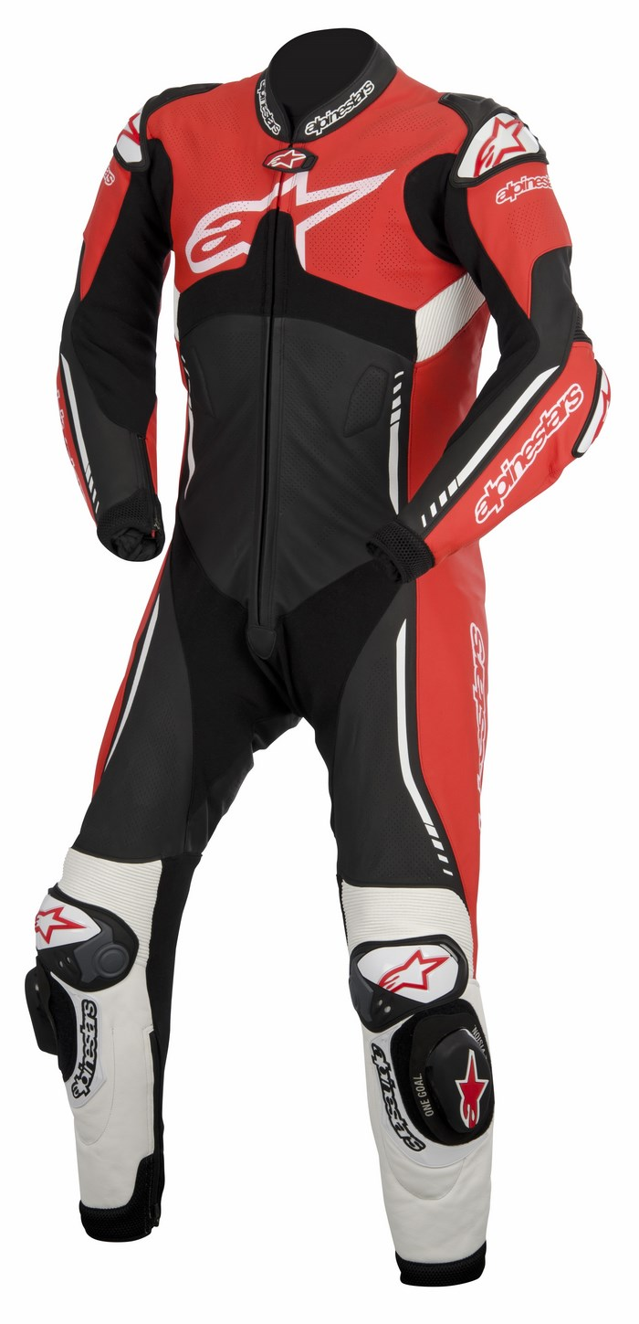 Alpinestars Atem one piece leather suit red black white
