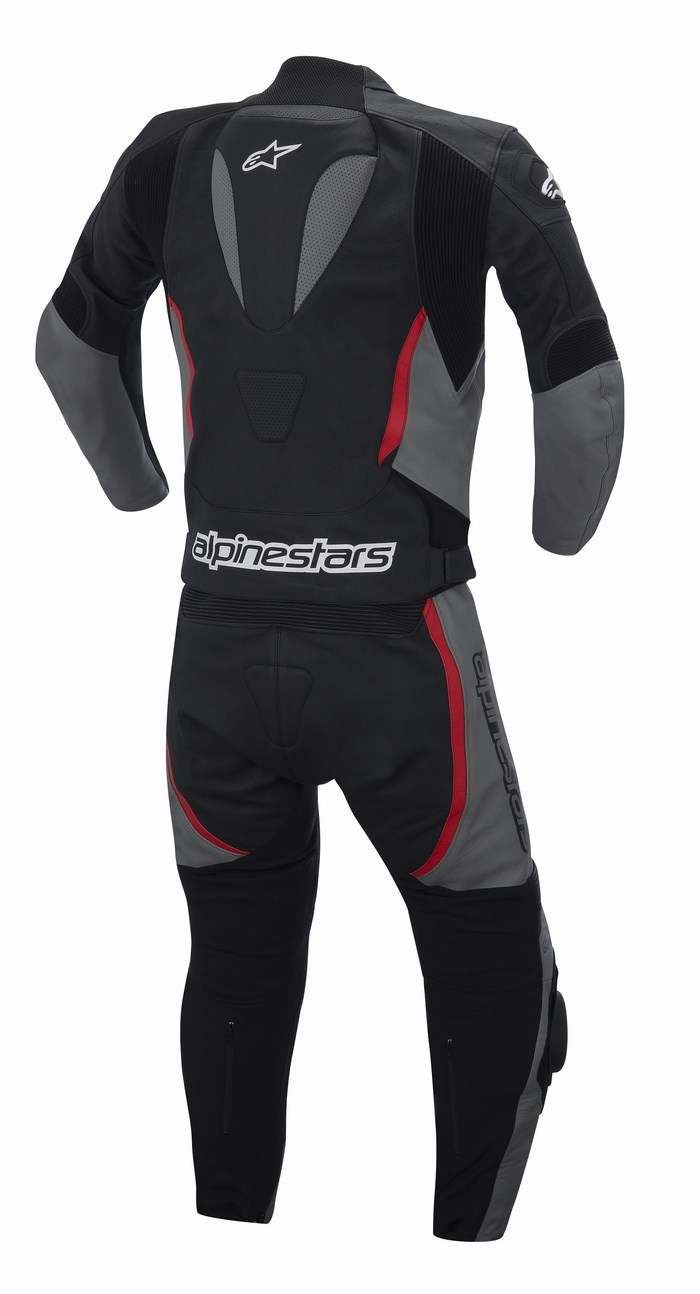 Alpinestars Orbiter 2PC leather suit black grey red