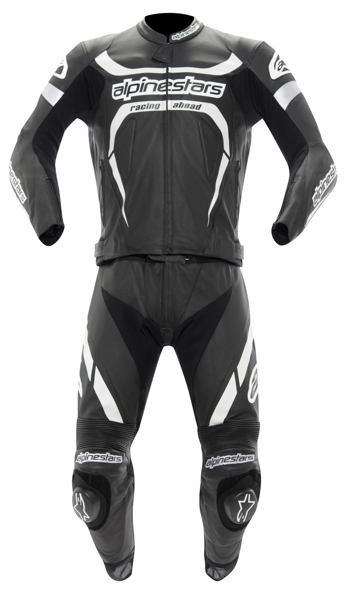 Alpinestars leather motorcycle suit divisible Motegi 2piece Blac