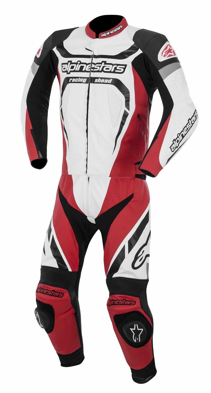 Alpinestars Motegi 2PC leather suit black white red