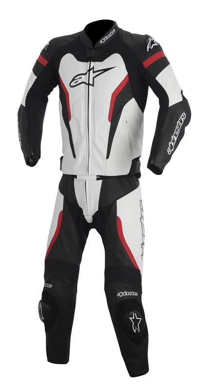 Divisible leather biker suit Alpinestars GP Pro 2piece Black Whi