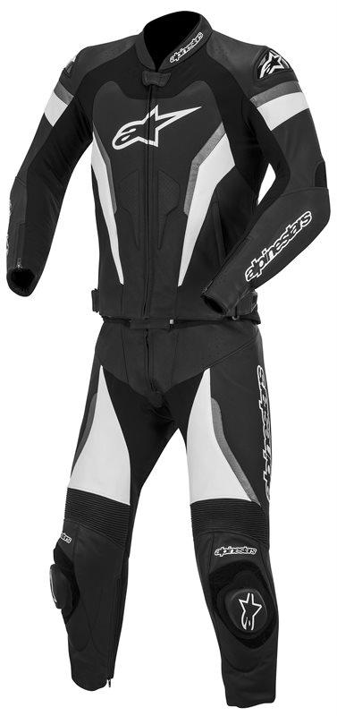Divisible leather biker suit 2piece Alpinestars GP Pro Black Ant