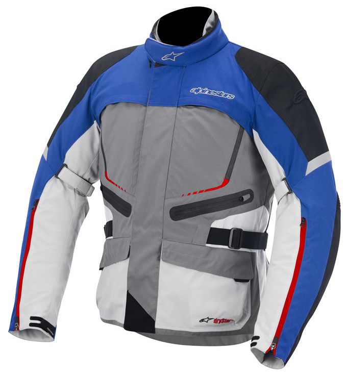 Valparaiso Drystar Jacket Alpinestars Grey Blue Red