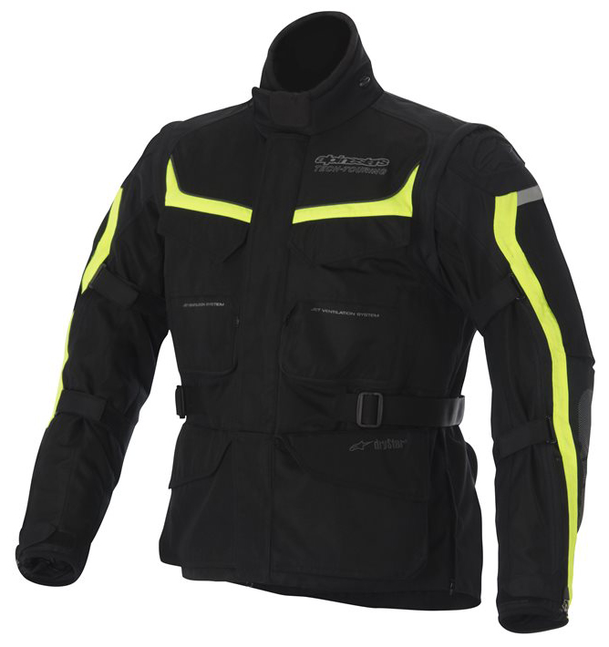 Alpinestras Calama Drystar Jacket Motorcycle Black Yellow Neon