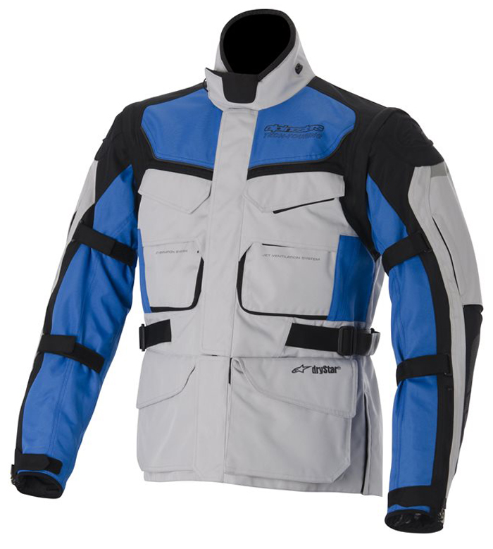 Alpinestras Calama Drystar motorcycle jacket Grey Blue