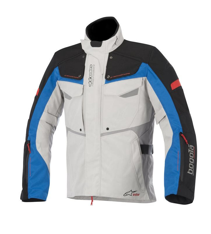 Alpinestars Bogota Drystar jacket Grey Black Blue Red
