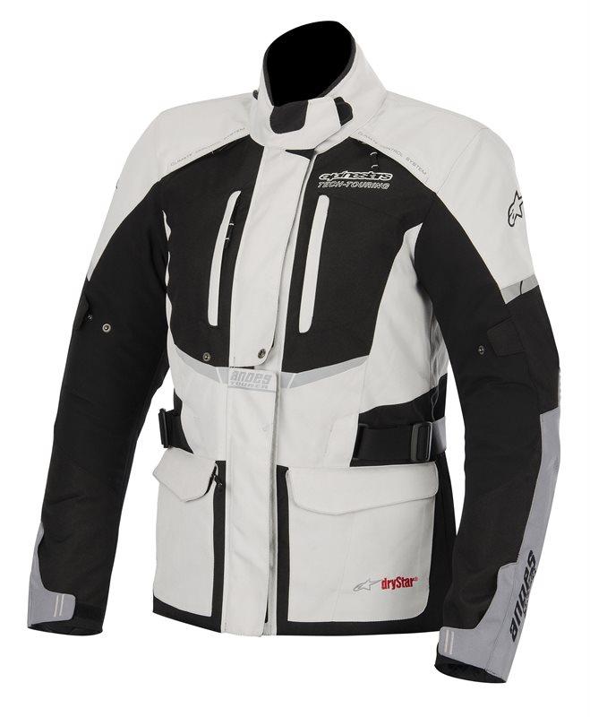 Giacca moto donna Alpinestars Stella Andes Drystar Grigio chiaro