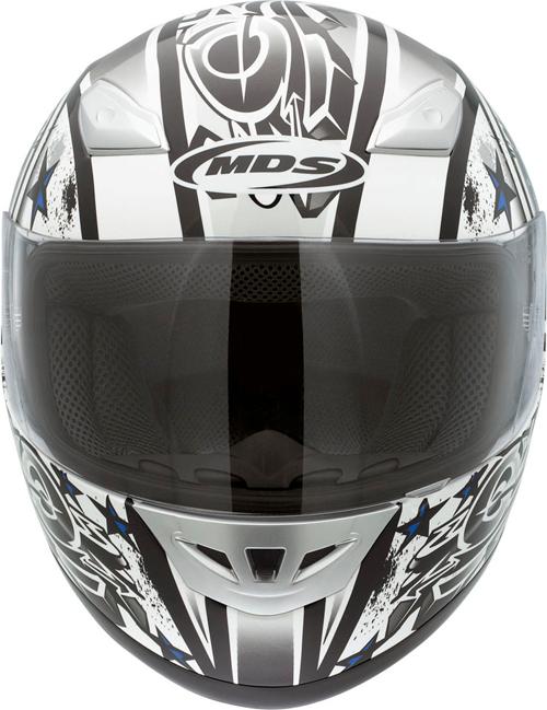 Mds by Agv M10 Multi Handstop fullface helmet white-blue