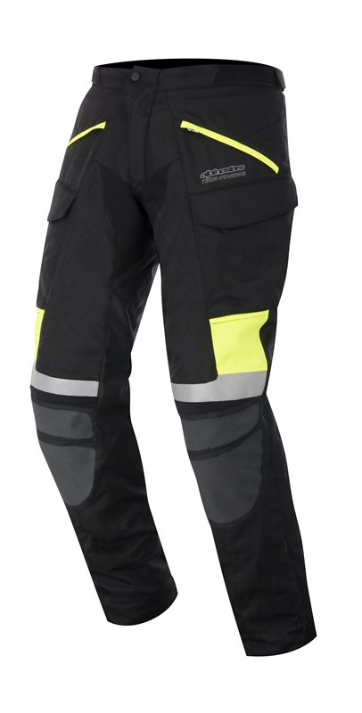 Pantaloni moto Alpinestars Calama Drystar Nero Giallo fluo
