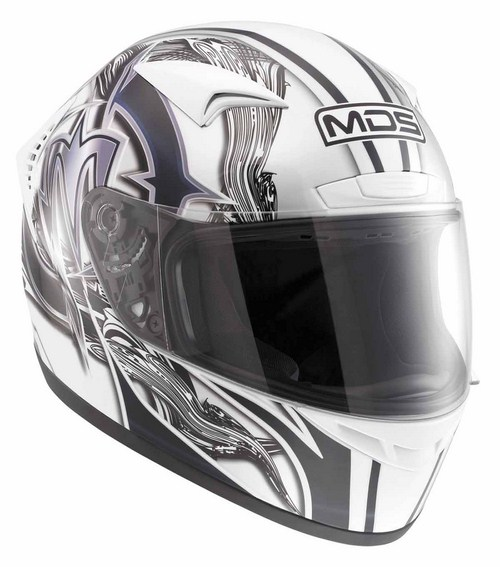 Mds by Agv M13 mULTI bRUSH  fullface helmet white black