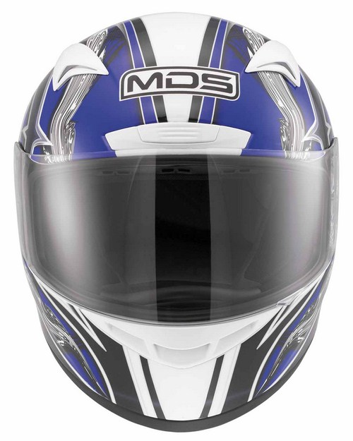 Casco moto Mds by Agv M13 Multi Brush bianco blue