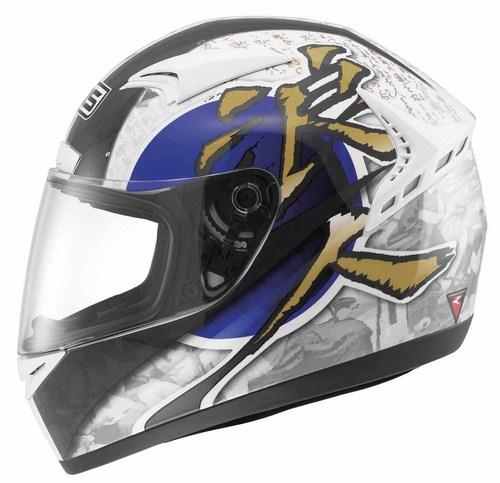 MDS by Agv M13 Multi Ronin full-face helmet white blue